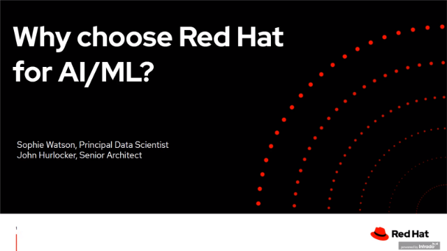 Why choose Red Hat for AI/ML?