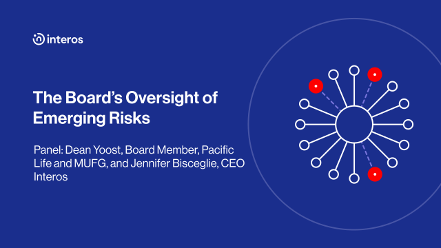 The Board's Oversight of Emerging Risks