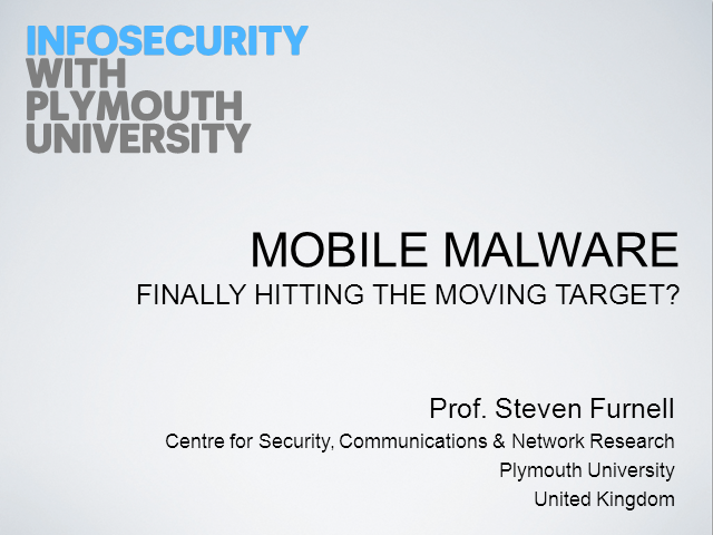 Mobile Malware:  Finally hitting the moving target?