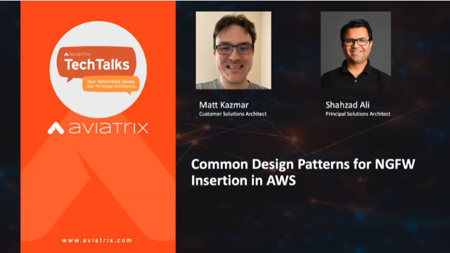 Common Design Patterns for Next Generation Firewall Insertion in AWS