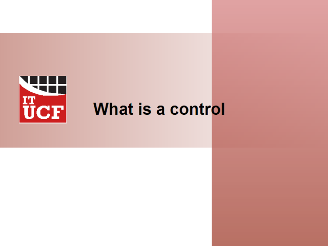 What is a control? or How to interpret regulatory guidelines