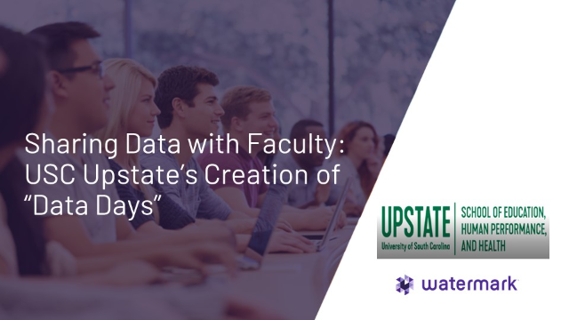"""Sharing Data with Faculty: USC Upstate's Creation of """"Data Days"""""""