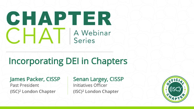 Incorporating DEI into Chapters