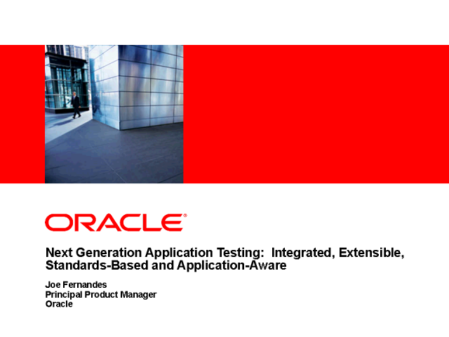 Next Generation Application Testing