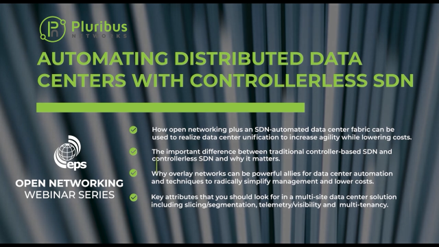 Automating Distributed Data Centers with Controllerless SDN & Open Networking