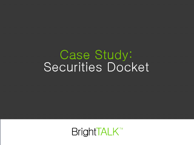 Interview: Securities Docket (Media)