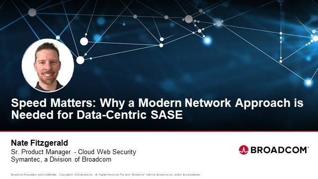 Speed Matters: Why a Modern Network Approach is Needed for Data-Centric SASE