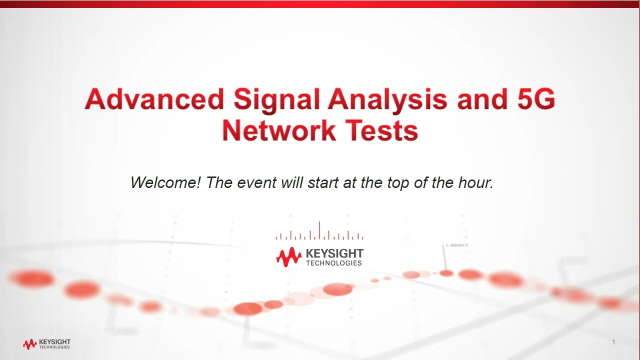 Advanced Signal Analysis and 5G Network Tests