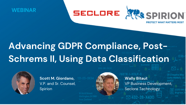 Advancing GDPR Compliance, Post-Schrems II, Using Data Classification