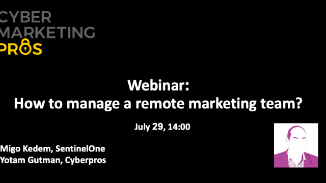 How to manage a remote marketing team?