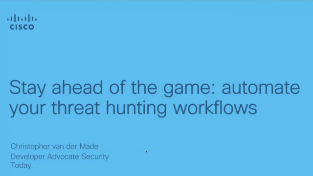 Stay ahead of the game: automate your threat hunting workflows