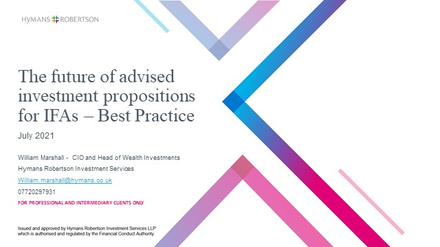 What does the future of advised investment propositions look like for IFAs?