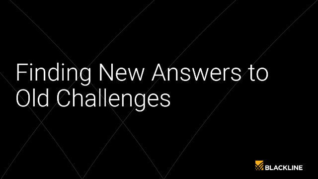 Finding New Answers to Old Challenges