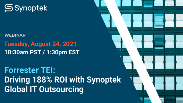 Driving 188% ROI with Synoptek Global IT Outsourcing: Total Economic Impact™
