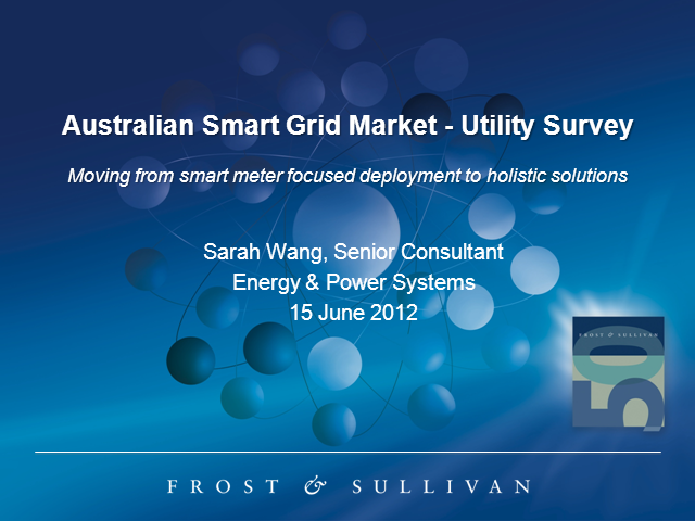 Australian Smart Grid Market - Utility Survey