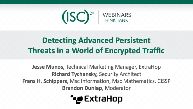Detecting Advanced Persistent Threats in a World of Encrypted Traffic