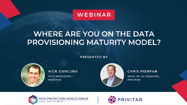 Where are you on the Data Provisioning Maturity Model?
