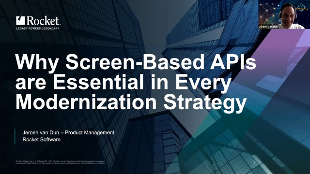 Why Screen-Based APIs are Essential in Every Modernization Strategy