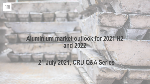 Aluminium market outlook for 2021 H2 and 2022