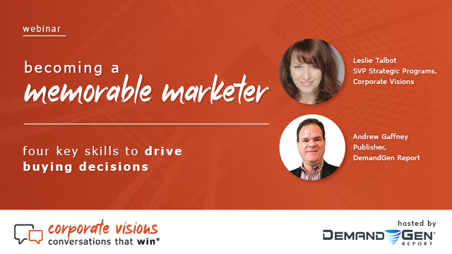 Becoming a Memorable Marketer