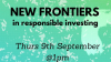 HOT TOPIC New frontiers in responsible investing