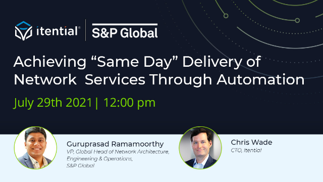 """Achieving """"Same Day"""" Delivery of Network Services Through Automation"""