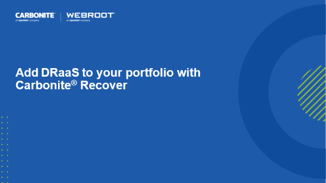 Why You Should Add Disaster Recovery as a Service to Your Portfolio