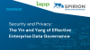Security and Privacy: The Yin and Yang of Effective Enterprise Data Governance