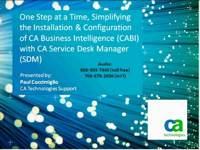 Simplify the Installation and Configuration of CABI with CA Service Desk Manager