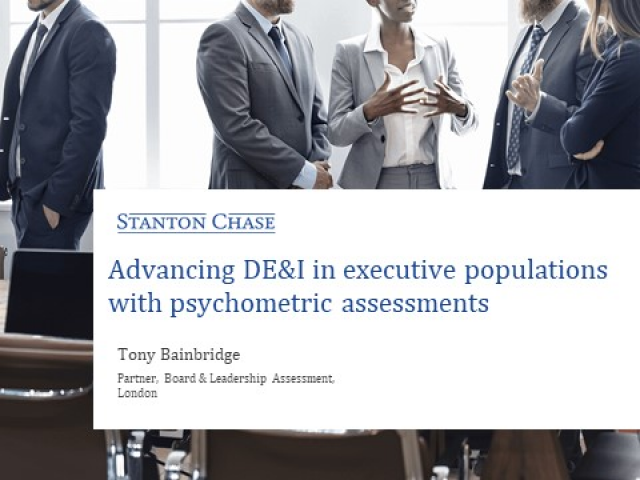 Advancing DE&I in executive population with psychometric assessments