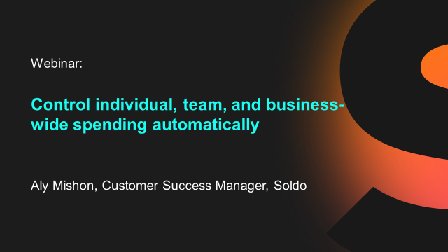 Control individual, team, and business-wide spending automatically