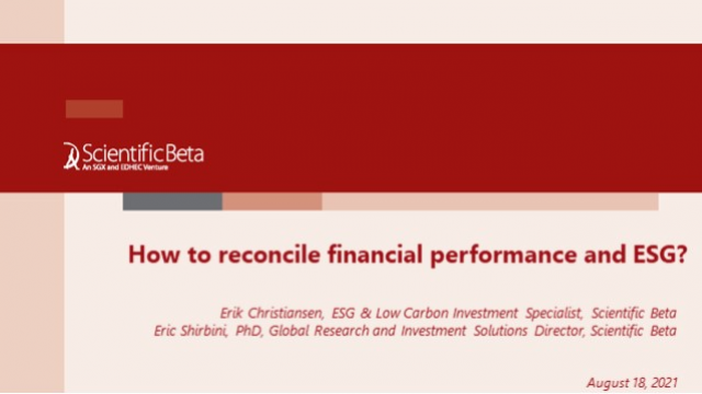 How to reconcile financial performance and ESG?