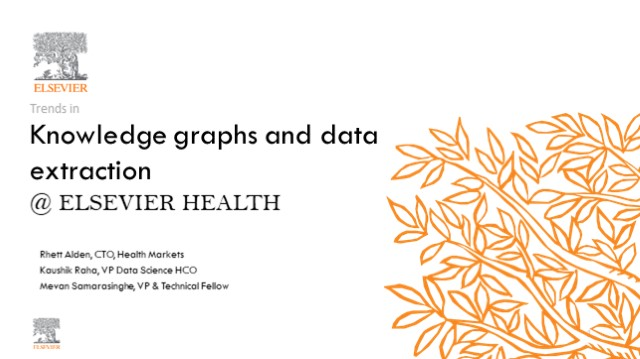 Knowledge graphs and data extraction – Current trends