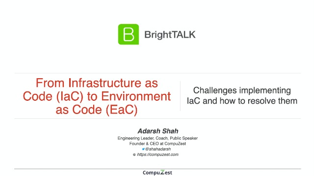 From Infrastructure as Code (IaC) to Environment as Code (EaC)