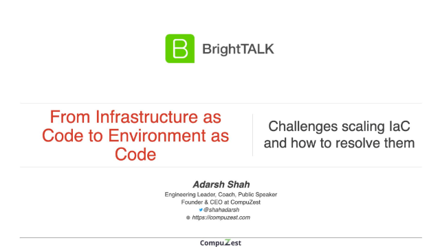 From Infrastructure as Code to Environment as Code