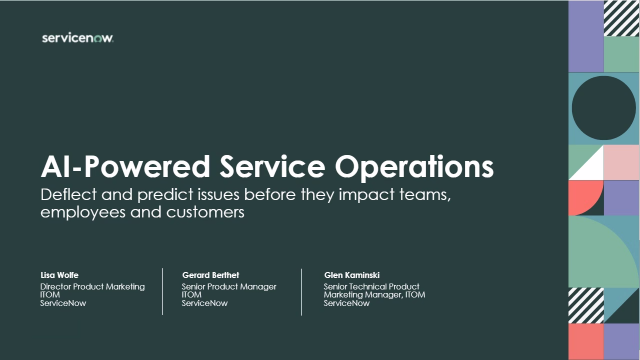 Part One: AI-Powered Service Operations and Predictive AIOps just got real
