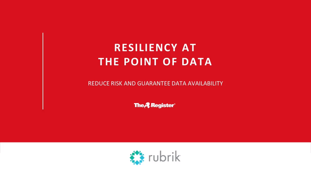 Resilience at the Point of Data