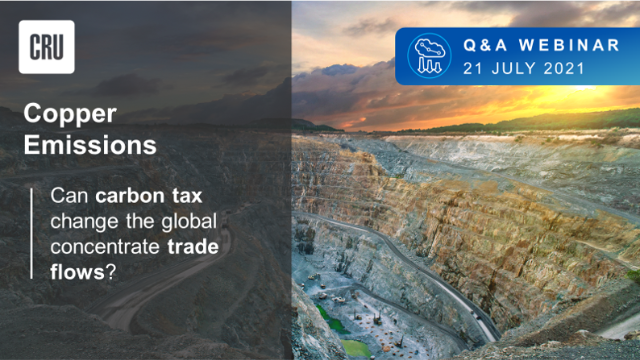 Copper emissions: Can carbon tax change the global concentrate trade flows?