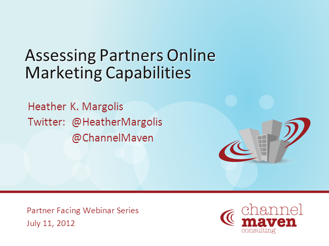 Assessing partners online marketing capabilities