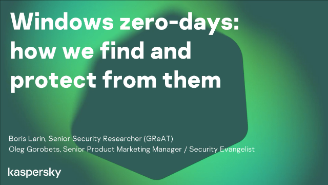 Windows zero-days: how we find and protect from them
