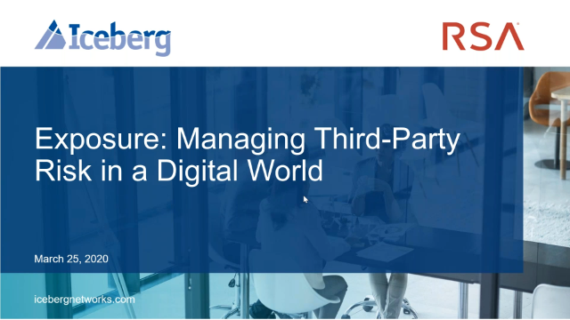 Exposure: Managing Third-Party Risk in a Digital World