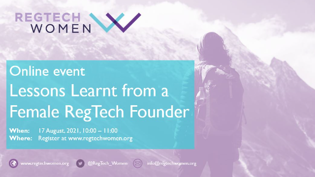 Lessons Learnt from a Female RegTech Founder
