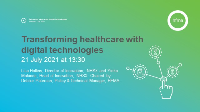 Transforming healthcare with digital technologies