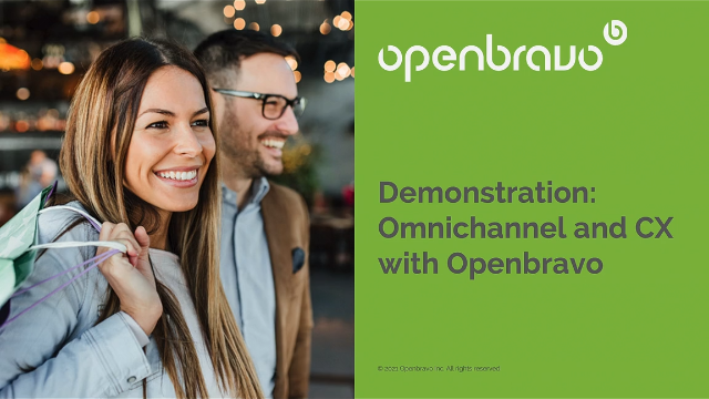 Product Demo: Omnichannel and customer experience with Openbravo