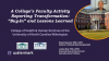 """College's Faculty Activity Reporting Transformation: """"Buy-in"""" & Lessons Learned"""