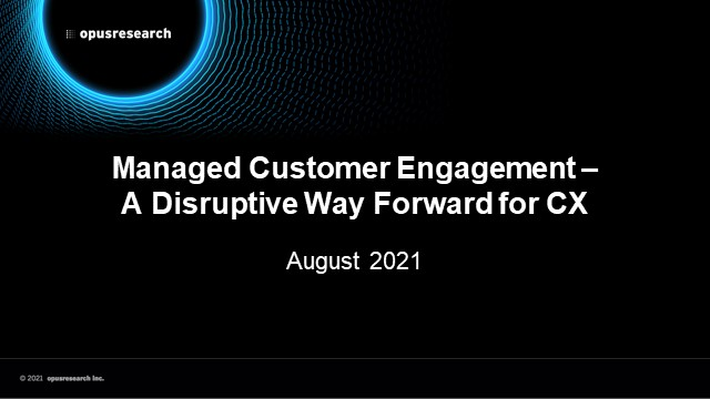 Managed Customer Engagement – A Disruptive Way Forward for CX