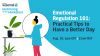 Well-being Ep. 6 - Emotional Regulation 101- Practical Tips to Have a Better Day