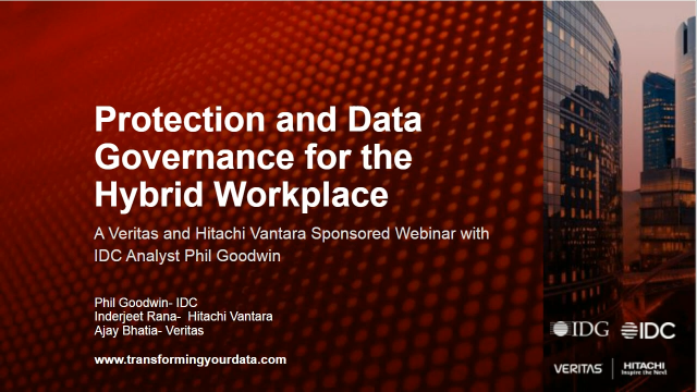 Protection and Data Governance for the Hybrid Workplace