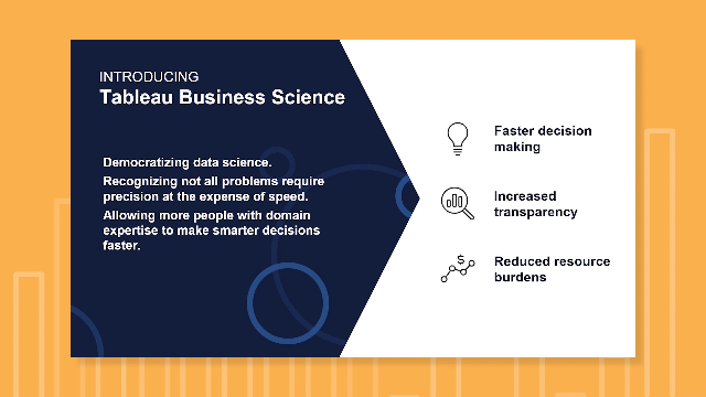 What is Tableau Business Science?