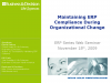 Maintaining ERP Compliance During Organizational Change